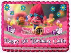 Edible picture birthday cake