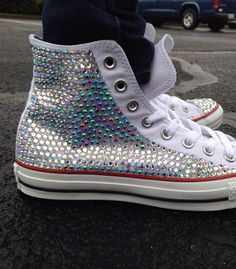 Bedazzled converseHigh top by CharmedByEm on Etsy