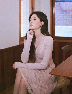 milkcocoa Korean Fashion Dress, Fashion Dresses, Face Angles, Fall Outfits, Cute Outfits, Cardigan Outfits, No Frills, Macarons, Ulzzang