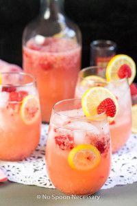 Cupid's Pink Arrow- a mix of Vodka, Blood Orange Liqueur, Muddled Raspberries & Lemon Juice.  A perfect cocktail for Valentine's Day!