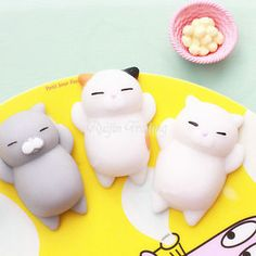 NEW-RARE-Cat-Mochi-Squishy-Stretch-amp-Squeeze-Toy-1-Pc