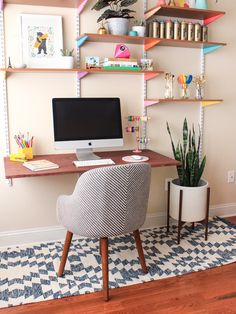 Desk Envy: Rachel Mae Smith of The Crafted Life's Cheery Creative Zone