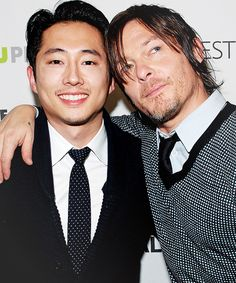 Steven Yeun and Norman Reedus. My two favorite characters :D