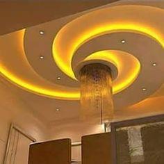 Simple False Ceiling Design, Gypsum Ceiling Design, House Ceiling Design, Ceiling Design Living Room, Bedroom False Ceiling Design, Ceiling Light Design, Home Ceiling, Design Bedroom, Ceiling Lights