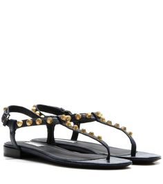 BALENCIAGA Giant Stud leather sandals. #balenciaga #shoes #sandals
