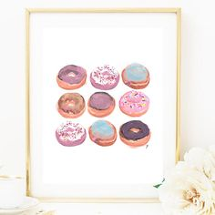Welcome To Art Rose Prints   What it is: - Choose your size print - Fall Donut Print - wall art  If you would like a size that is not specified,