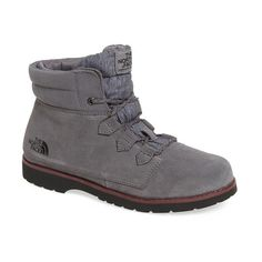 Women's The North Face 'Ballard Roll-Down Se' Waterproof Boot ($100) ❤ liked on Polyvore featuring shoes, boots, laced up boots, lacing boots, lace up fold over boots, suede boots and the north face shoes