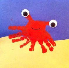 Crab and fish handprints - Oklahoma City Arts and Crafts | Examiner.com