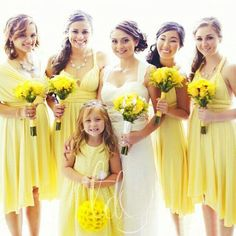 Dress your entire Bridal party in TDY Yellow infinity dress! Matching Neck ties and Bow ties available now for the Grooms, Groomsmen and Page boys! Yellow Bridesmaid Dresses, Bridesmaid Dresses Plus Size, Wedding Dresses, Yellow Wedding, Summer Wedding, Spring Weddings, Infinity Dress Bridesmaid, Dama Dresses, Multi Way Dress