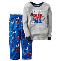 Boys Carter's 2-Piece Sports Pajamas Set, Boy's, Size: 6, Grey