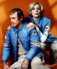 #Sixties   Barbara Bain and Nick Tate in Space: 1999