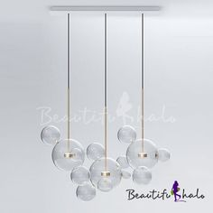 Buy clear glass ball futuristic chandeliers art deco pendant lamp at Bubble Chandelier, Art Deco Chandelier, Chandelier Ceiling Lights, Pendant Chandelier, Ceiling Light Fixtures, Ceiling Lamp, Pendant Lighting, Interior Lighting, Yurts