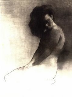 "Saatchi Online Artist Patrick Palmer; Drawing, ""Sketch for The Prettiest Girl in Town"" #art"