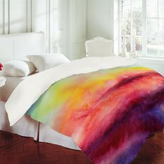 "Would Garette let me? Jacqueline Maldonado ""Kiss Of Life"" Duvet Cover My New Room, My Room, Watercolor Bedding, Tie Dye Bedding, Up House, Dream Bedroom, Look Cool, Bed Spreads, Home Decor Accessories"