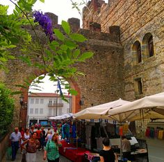 Market day in Marostica, Italy