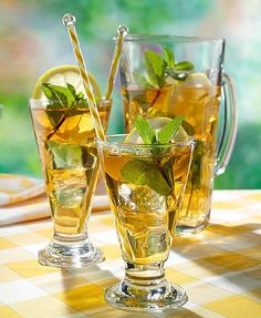Iced Tea with lemon, mint♥