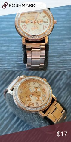 Rose gold watch cool watches ladies watches Dial Window Material Type: Glass  Movement: Japanese Quartz  Band Width: 12 mm  Band Length: 18 cm (approximate)  Clasp: Buckle  Case Diameter: 1.5 inch  Band Material Type: Metal Link  Band Color: Rose Gold  Dial Color: Rose Gold  Item Weight: 4 Ounces  Brand: Geneva  designer watches, rose gold watches, rose gold watch women, rose gold watches for women, watches for women, nice watches, dress watches, fashion watches, gift for her, classic…