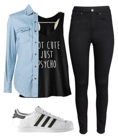 """""""We Heart It #11"""" by ioanaaaa15 on Polyvore featuring H&M, Yves Saint Laurent and adidas"""