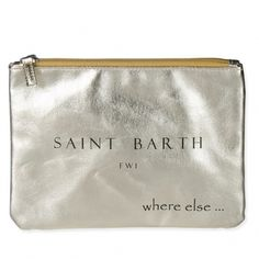 Where Else CITIZEN ST. BARTH Clutch Gold Soft Clutch with Zipper in the trendy Metal Glow by Where Else. Sophisticated and casual at the same time -  just like your style! € 36.00
