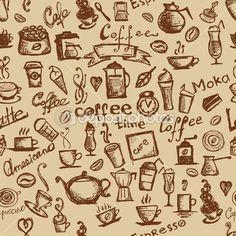hora do café, fundo perfeita para seu projeto — Ilustração de Stock #6524646