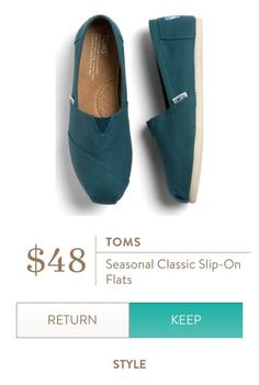 a062ad88ce7 TOMS Seasonal Classic Slip On Flat- I like this teal color