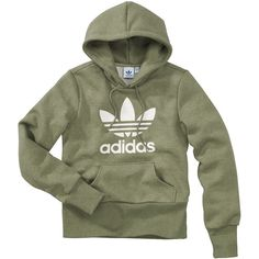 Adidas Hoody (€69) ❤ liked on Polyvore featuring tops, hoodies, sweaters, shirts, adidas, women, green hooded sweatshirt, green top, green shirt and hooded sweatshirt