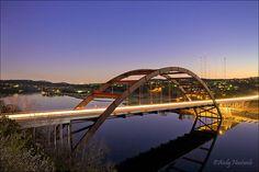 Austin, TX Pennybacker (Loop 360) Bridge over Lake Austin (http://en.wikipedia.org/wiki/Pennybacker_Bridge)