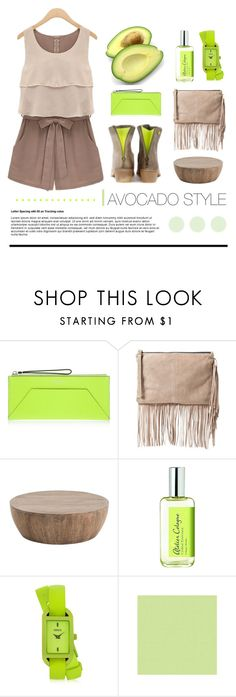"""""""Avocado"""" by lana-drazic-posao ❤ liked on Polyvore featuring Henri Bendel, MANGO, Atelier Cologne and Versus"""