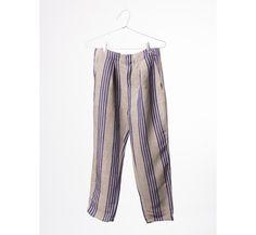 Striped Chino Trousers B.C. emb.
