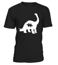 Puzzle Dinosaur - Autism Awareness Shirt  Funny Autism T-shirt, Best Autism T-shirt