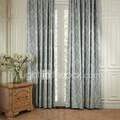 Two Panels Curtain Neoclassical , Floral / Botanical Bedroom Polyester Material Curtains Drapes Home Decoration For Window - JPY ¥7,908 ! HOT Product! A hot product at an incredible low price is now on sale! Come check it out along with other items like this. Get great discounts, earn Rewards and much more each time you shop with us!