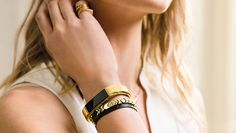 This gold bangle for the Fitbit Alta is what I've been waiting for!!