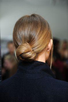 This low bun is so sleek and sophisticated.Fashion Palette AustraliaFall/Winter2014 via StyleList