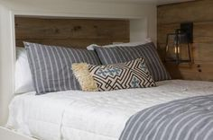 Chip and Joanna Gaines add a helping of Italian flavor to a bland suburban home in an impressive renovation for a California couple. Grown Up Bedroom, Master Bedroom, Bunk Beds Built In, Casa Patio, Pole Barn House Plans, Farmhouse Dining Chairs, Ranch Style Homes, Shared Rooms, Fixer Upper