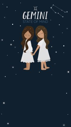 Gemini state of mind. Celebrate the zodiac sign with this free animated Evite invitation. June Gemini, Gemini Star, Gemini Life, Zodiac Art, Gemini Zodiac, Gemini Wallpaper, Gemini Birthday, Gemini Symbol, Hello June