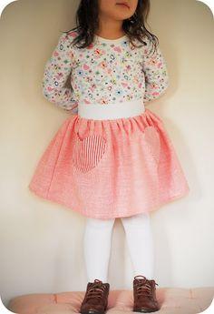 Elastic Waist Skirt Tutorial | Freshly Picked