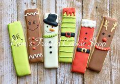 Fancy Cookies, Iced Cookies, Royal Icing Cookies, Cupcake Cookies, Cupcakes, Christmas Cookies Gift, Christmas Candy, Christmas Treats, Cookie Cake Decorations