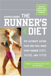 Runners Diet book. Good read about foods to include in your diet while running.