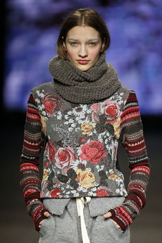 Collection- Winter Passion AW15/16 ------  I'm lukewarm on the floral print, but I love the stripy sleeves.