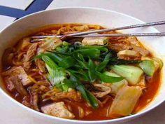 Rainy day kimchi noodle soup