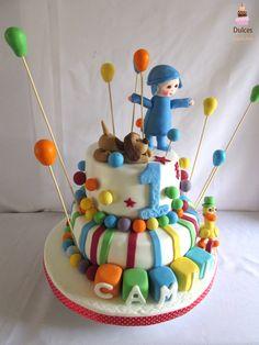 Torta Pocoyo #TortaPocoyo #TortasDecoradas #DulcesKaprichos