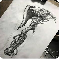 Drow New Beautiful Tattoo Design👌👍 Artist . Tag your friends 🙏 If You Want Support Us Share My Post In Your Story ❤ . For Share… Skull Tattoo Design, Tattoo Design Drawings, Skull Tattoos, Tattoo Sketches, Tattoo Designs Men, Black Tattoos, Body Art Tattoos, Hand Tattoos, Sleeve Tattoos