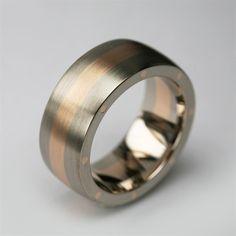 Stephen Einhorn bespoke Metal Geo Elipse wide wedding ring in Fairtrade & Fairmined Gold.