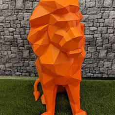 Stefan Maroni added a photo of their purchase Animal Masks, Animal Heads, 3d Paper Crafts, Paper Art, Origami Lion, Sculpture Art, Sculptures, Paper Cube, Paper Bunny