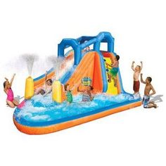 Water Bounce House | ... Gushing Geyser Bounce House Water Slide Inflatable Water Park | eBay