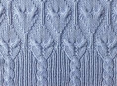 Pattern with border @ Afshan Shahid in Russian.  Would be great for top down socks, and could be adapted for toe down.,