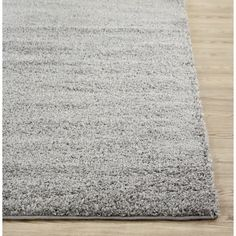 Soft Cozy Solid Light Grey Indoor Shag Area Rug (7'10 x 10')