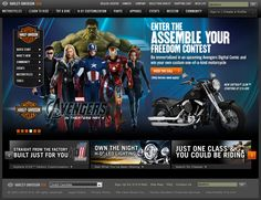 Out of imagination! #harley-davidson website built on #Joomla CMS with the land of Avengers!