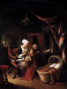 """Gerard Dou, """"The Young Mother."""""""