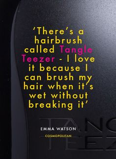 Emma Watson knows what hairbrush is right for her hair, do you? @tangleteezeruk